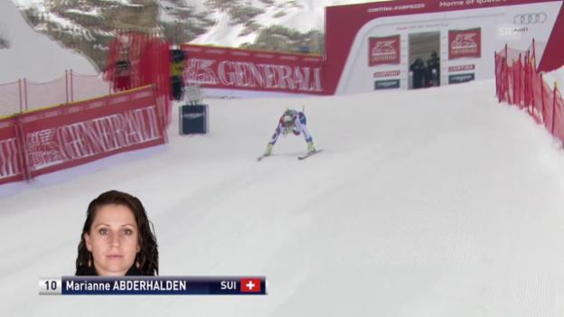 Video «Ski Alpin: Abfahrt Cortina, Fahrt Abderhalden» abspielen