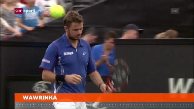 Video «ATP 's-Hertogenbosch: Wawrinka - Lorenzi» abspielen