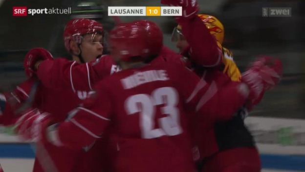 Video «Eishockey: Lausanne-Bern» abspielen