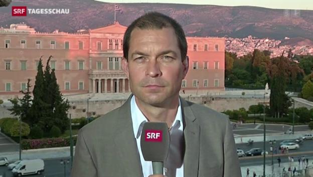 Video «SRF-Korrespondent Philipp Zahn berichtet aus Athen» abspielen