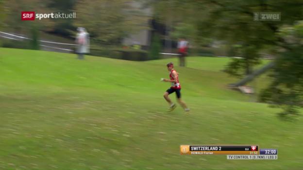 Video «Sieg und Gesamtweltcup für Schweizer Mixed-Sprintstaffel» abspielen