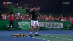 Video «Tennis: ATP-Turnier in Paris-Bércy, Wawrinka - Lopez» abspielen