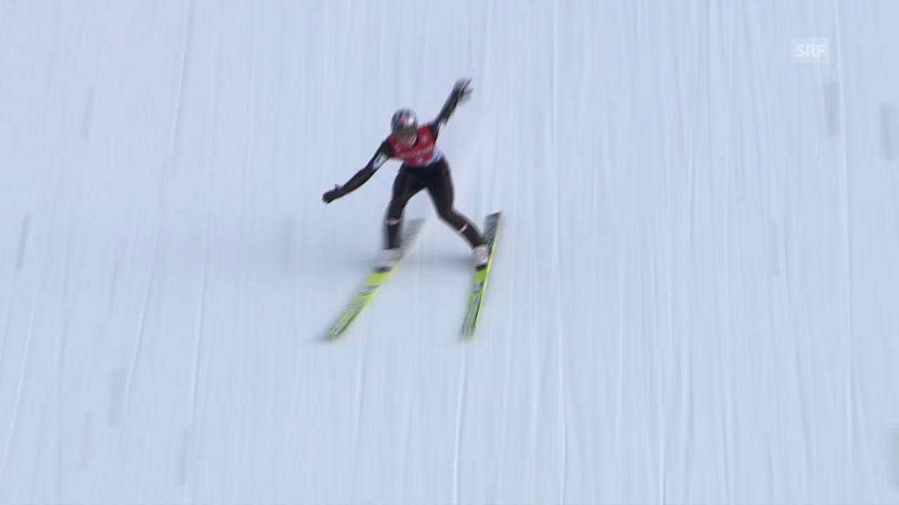 Skispringen: Vierschanzentournee Garmisch, 2. Sprung Morgenstern («sportlive», 1.1.2014)