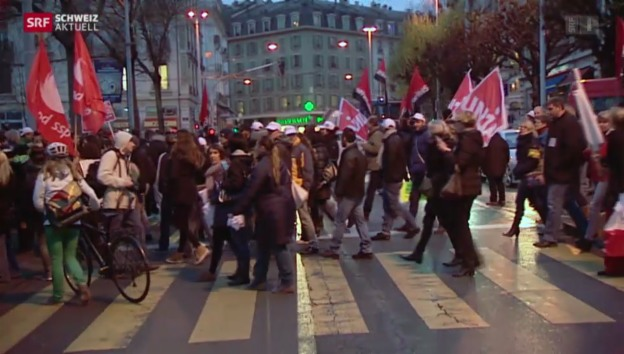 Video «Streik in Genf» abspielen