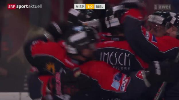 Video «Eishockey: Liga-Qualifikation, Visp-Biel» abspielen
