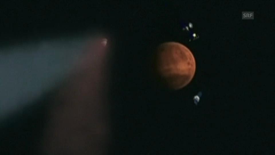 "Komet ""Siding Spring"" düst am Mars vorbei (ohne Ton)"