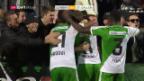 Video «St. Gallen siegt mit viel Mühe gegen Le Mont» abspielen