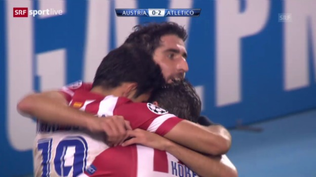 Video «CL: Austria Wien - Atletico Madrid» abspielen