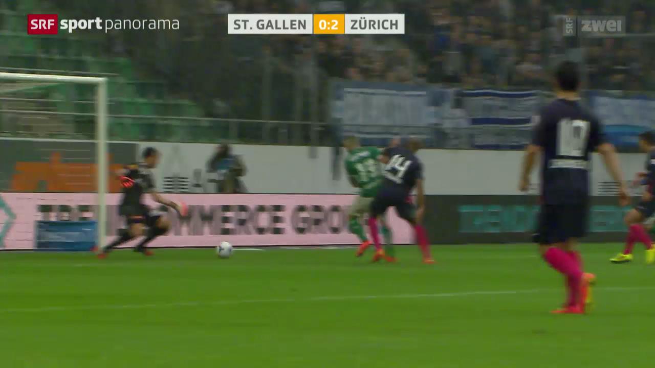 Fussball: Super League, St. Gallen - Zürich