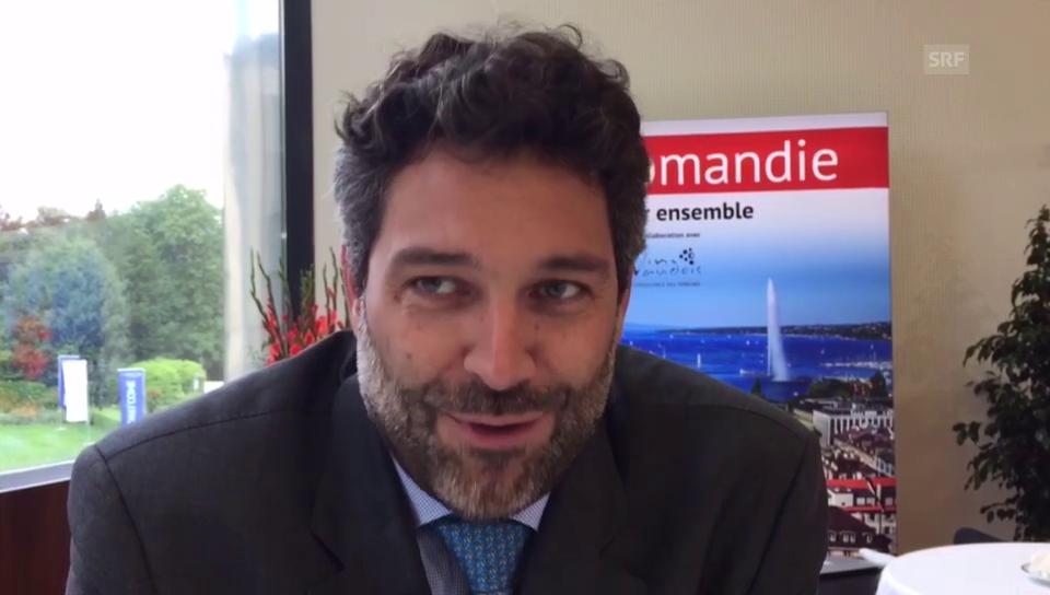 Lorenzo Stoll von Swiss und sein erster wichtiger Business-Termin