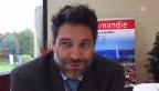 Video «Lorenzo Stoll von Swiss und sein erster wichtiger Business-Termin» abspielen