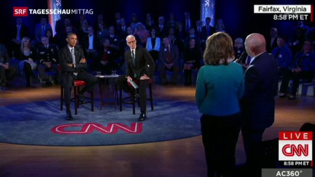 Video «Fernsehdebatte über Waffengesetz» abspielen