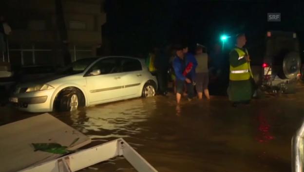 Video «Schweres Unwetter in Mazedonien» abspielen