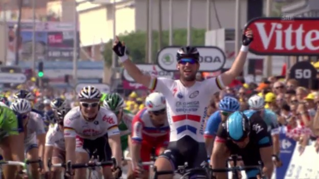 Video «Rad: Tour de France, 5. Etappe, Schlussphase» abspielen