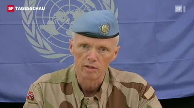 Syrien: UNO-Beobachter setzen Mission aus