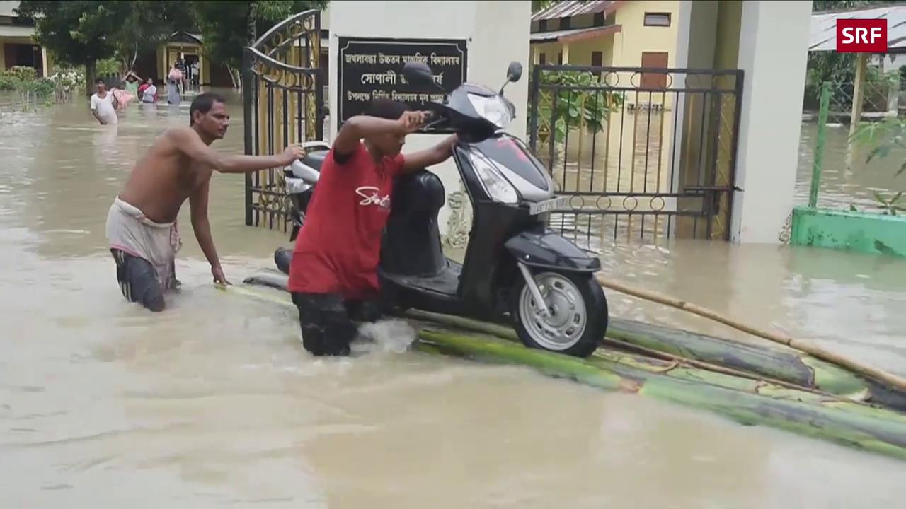 Tödliche Unwetter in Südasien