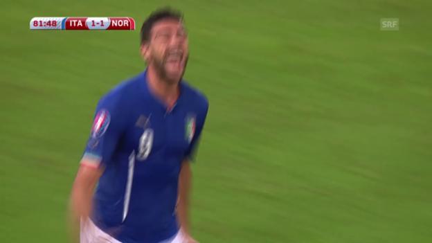 Video «Fussball: EURO-Qualifikation, Italien - Norwegen» abspielen