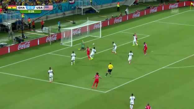 Video «FIFA WM 2014: Clint Dempsey trifft nach 29 Sekunden gegen Ghana» abspielen
