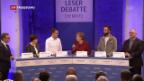 Video «Merkel stellt sich unangenehmen Fragen» abspielen
