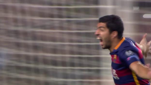 Video «Fussball: CL, Tor Luis Suarez Barça - Leverkusen» abspielen