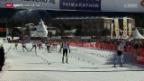 Video «Langlauf: Engadin Skimarathon - das Elite-Rennen» abspielen
