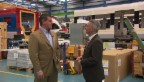 Video «Rollentausch: Reto Lipp gibt Mikrofon an Unternehmer» abspielen