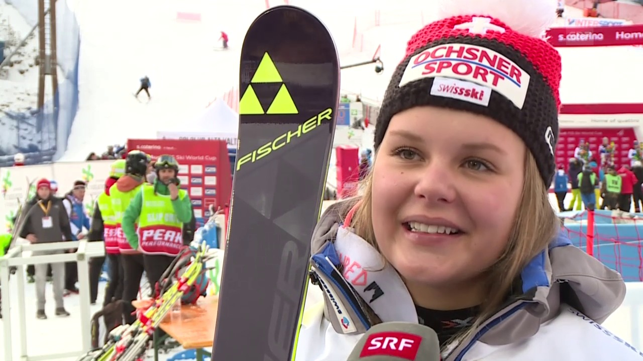 Ski: Slalom Santa Caterina, Interview Charlotte Chable