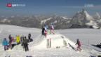 Video «Abfahrer im Sommertraining in Zermatt» abspielen