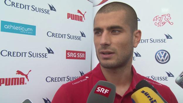 Video «Fussball: Nationalmannschaft, Eren Derdiyok über seine Leidenszeit» abspielen
