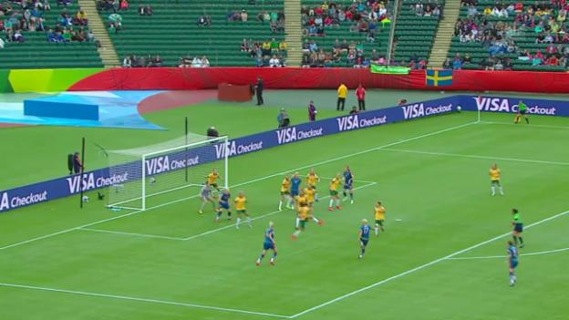 Video «Fussball: Frauen-WM 2015 in Kanada, Gruppenphase, Australien - Schweden» abspielen