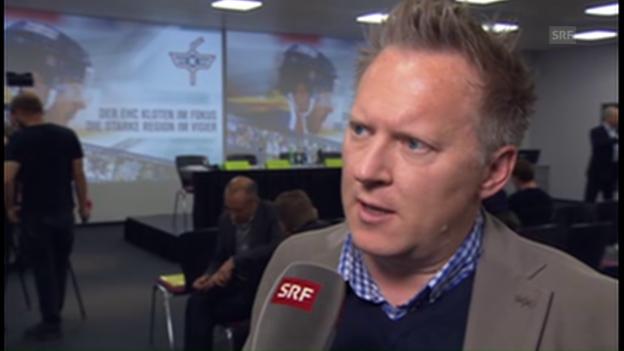 Video «Marketingchef Mike Schälchli zur Zukunft des EHC Kloten» abspielen
