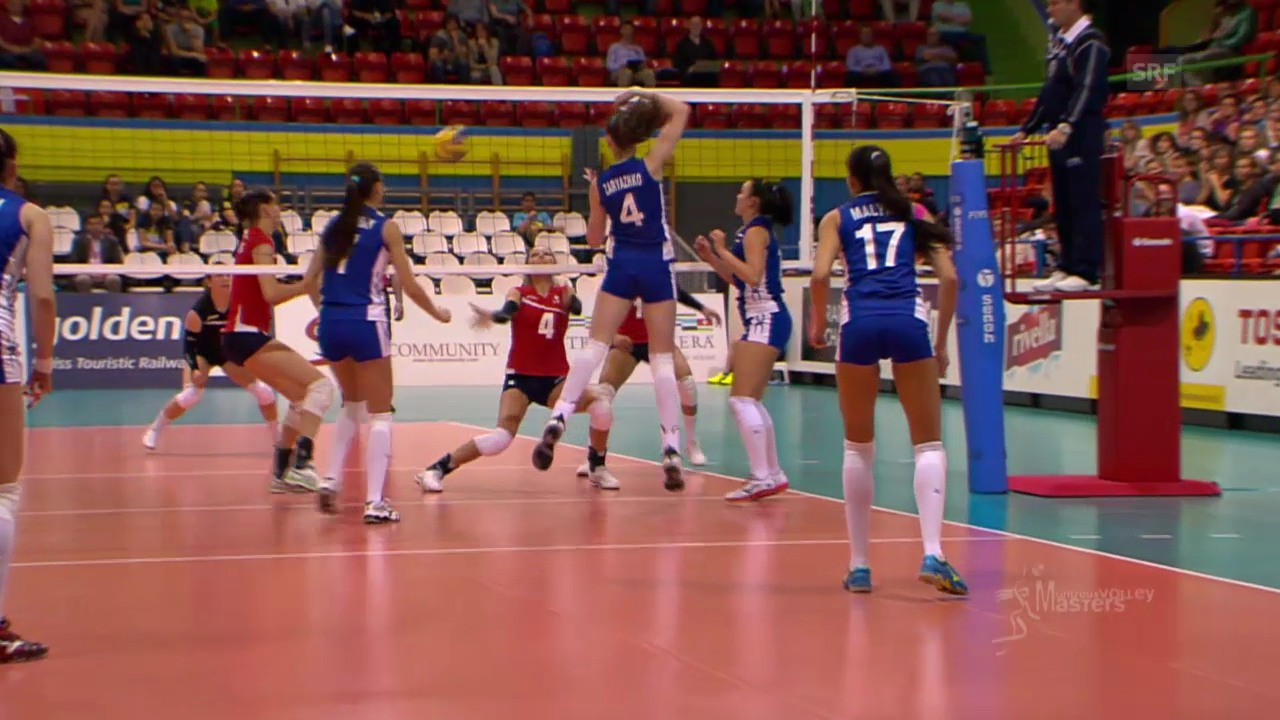 Volleyball: Masters Montreux, SUI-RUS, Impressionen