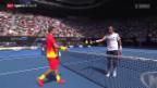 Video «Wawrinka bleibt gegen Rosol makellos» abspielen