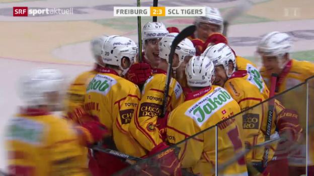 Video «Eishockey: Freiburg - SCL Tigers» abspielen