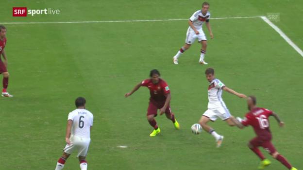 Video «Fussball: Spielbericht Deutschland - Portugal» abspielen