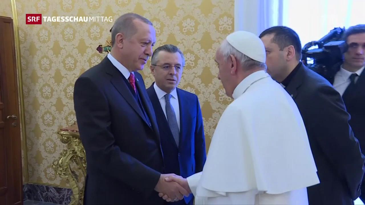 Beim Papst spricht Erdogan die Jerusalem-Frage an