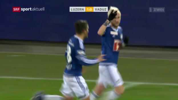 Video «Luzern siegt problemlos gegen Vaduz» abspielen