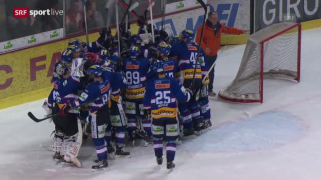 Video «Eishockey: Liga-Quali Biel-Visp» abspielen