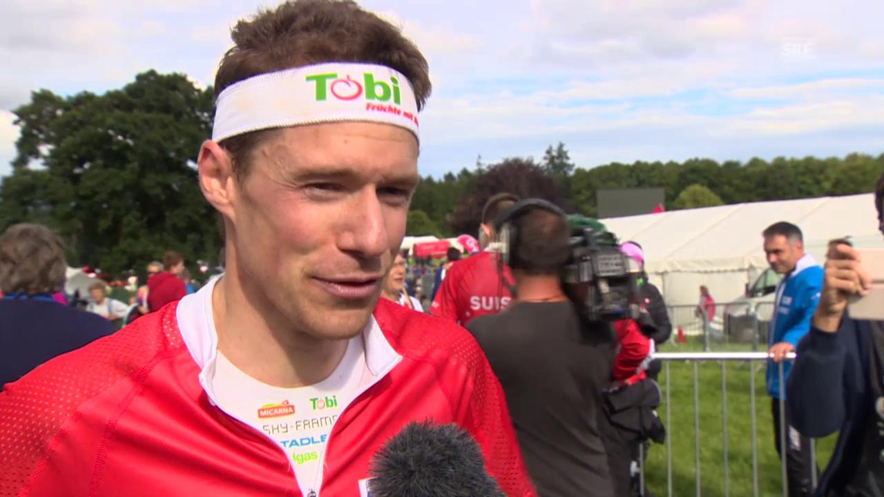 OL-WM: Siegerinterview mit Daniel Hubmann