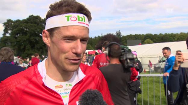 Video «OL-WM: Siegerinterview mit Daniel Hubmann» abspielen
