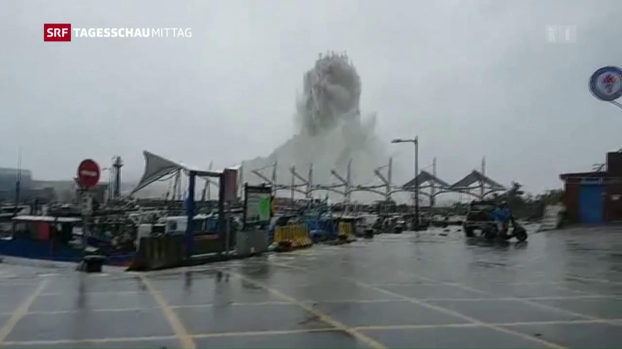 Super-Taifun tobt über Taiwan