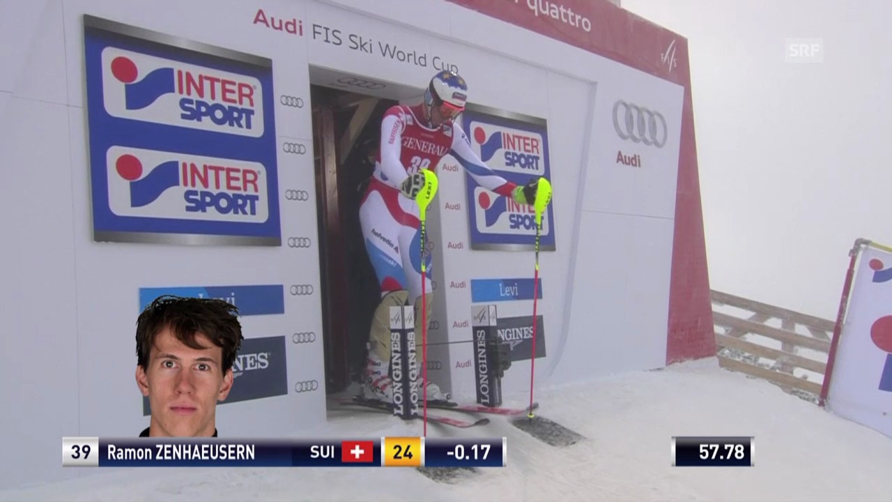 Ski: Der 2. Lauf von Ramon Zenhäusern in Levi