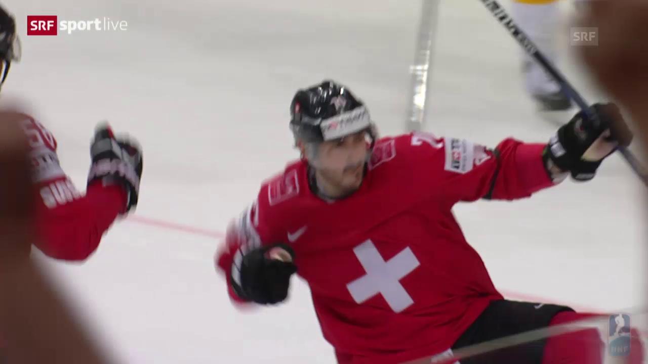 Eishockey: WM 2015, SUI-GER, Tor Hollenstein