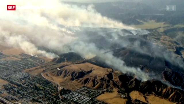 Kalifornien kämpft gegen Buschfeuer