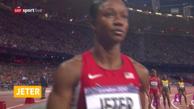 Video «Carmelia Jeter verpasst Olympia» abspielen