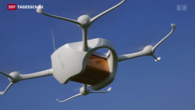 Video «Post testet Paket per Drohne» abspielen