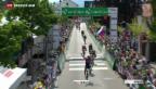 Video «Modolo gewinnt 5. TdS-Etappe im turbulenten Sprint» abspielen