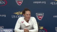 Video «Tennis: US Open, Stosur über Transport» abspielen
