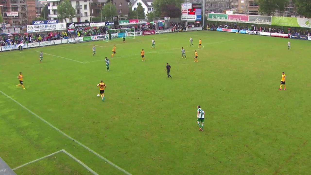 Fussball: Schweizer Cup, 1. Runde: Kriens - YB, Alle Tore