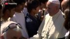 Video «Papst Franziskus auf Lesbos» abspielen